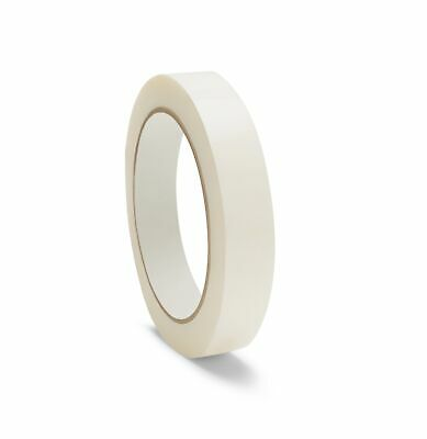 """72 Rolls SHIELD White Strapping Poly Tape 1/2"""" x 60 Yards"""