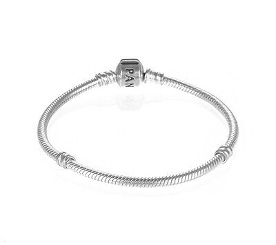 Genuine Pandora Stirling Silver Bracelet with Pandora Clasp 590702HV