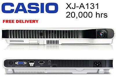Casio Xj A131 Slim Projector Led Laser Light Home Office Cheap Beamer Portable