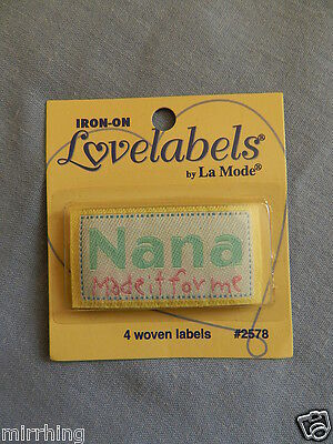 """Lovelabels """"Nana made it for me"""" -  Iron-on Labels"""