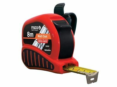 Fisco BrickMate Tape Measure 8m Brick Block Courses 25mm Blade Metric Builders