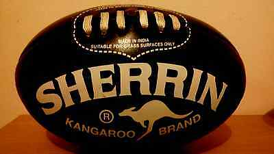 Sherrin Wizard Leather Football - with FREE AFL premiership cup PIN