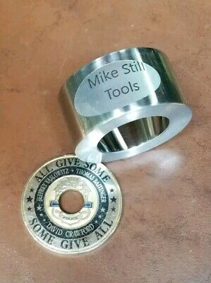 """Coin Ring Reduction Fold Over Die 1.8"""" Machined @ 20° Challenge Coins"""