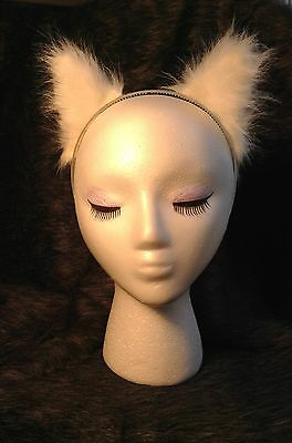 White Ears, Arctic Fox Wolf Cat or Dog Ears, Great Cosplay Animal High Quality
