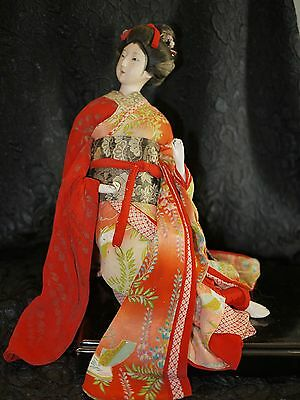 Exquisite Japanese Vintage/Antique Geisha Doll Edo Gofun 1953-1956