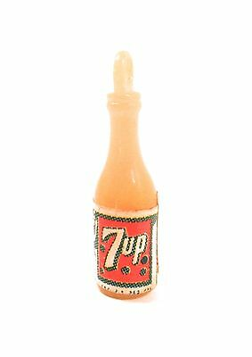 Vintage 7 UP Charm for Necklace or Bracelet Soda Pop Orange Charm Plastic Label