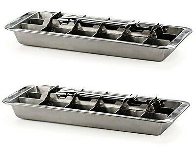 Endurance Stainless Steel 18 Cube Ice Cube Tray, Set of 2
