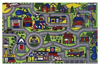 """Car Play Fun Rugs  DRIVING TIME FT-103 1929 Play Rug 19"""" X 29""""  New"""