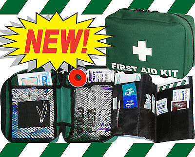 FIRST AID TRAVEL KIT BAG - Green - EMPTY BAG ONLY - NO CONTENTS