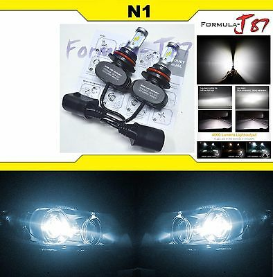 LED Kit N1 50W 9007 HB5 6000K White Two Bulbs Head Light Dual High Low Beam Lamp