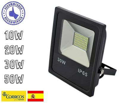 Foco Proyector Plano Led Smd 10W 20W 30W 50W 230V Ip65 Interior-Exterior
