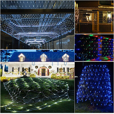 3M-30M Fairy String Net Curtain Mesh LED Xmas Party Ceiling Lights Outdoor Lamps