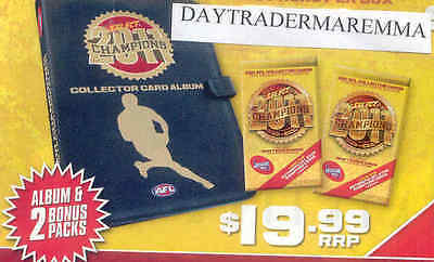 2011 AFL Select Champions officiial album and 2 packs