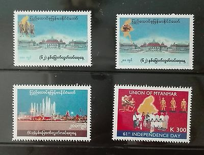 Mint Myanmar Burma stamps 61st, 62 nd, Independence day