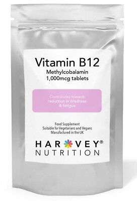 Vitamin B12 Methylcobalamin 1000mcg Tablets High Strength Immune Fatigue