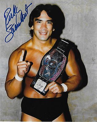 Ricky Steamboat Wwf Wwe Signed Autograph 8X10 Photo