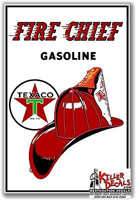 "TEXA-D-6 12/"" TEXACO RED DIESEL CHIEF GASOLINE DECAL OIL CAN GAS PUMP LUBSTER"