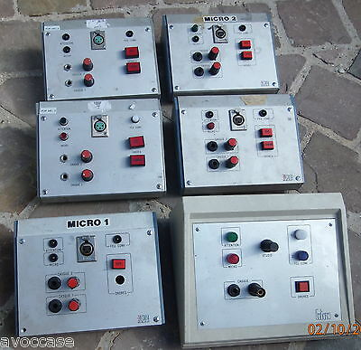 Lot De 6 Boitiers Intercom Radio/ Broadcast Vintage