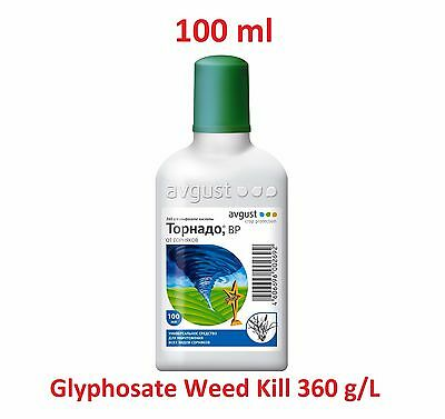 Glyphosate Weed Kill 360 g/L Concentrate 100 ml, Herbicide Garden, Tornado