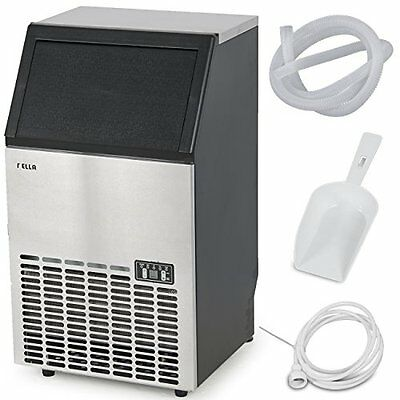 Della© Stainless Steel Commercial Ice Maker Undercounter Freestanding Machine,