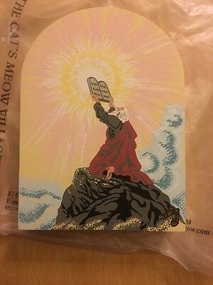 Cat's Meow Wood Collectible, Moses And The Ten Commandments, Bible Stories Serie