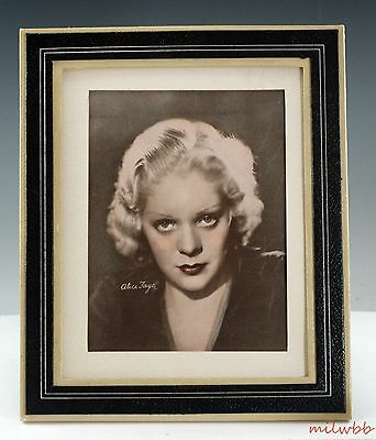 """Vintage 1940's ALICE FAYE Photograph 10"""" x 12"""" Matted Framed"""