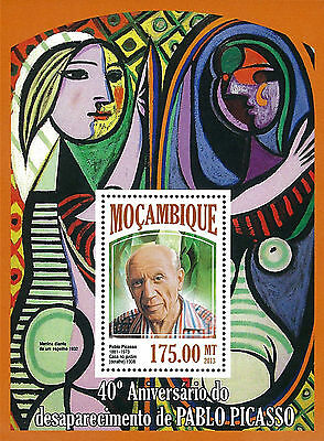 Mozambique 2013 Stamp, MOZ13032B Pablo Picasso, Art, Painting, Famous People