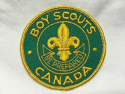 Boy Scouts  -  vintage Boy Scouts of Canada -  patch style # 2
