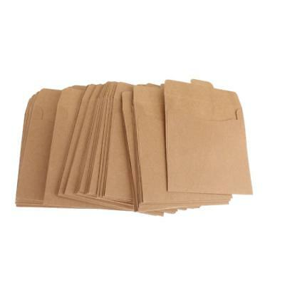 50x Phenovo CD DVD CDR Kraft Sleeves Envelope Packaging Box Disc Paper Bag