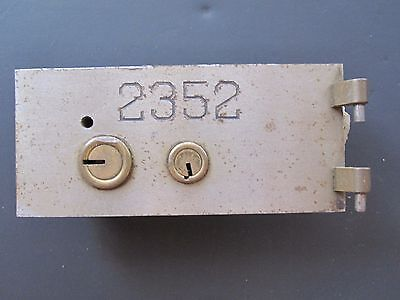 Antique Austin Chicago History Landmark Laramie State Bank Art Deco Deposit Lock