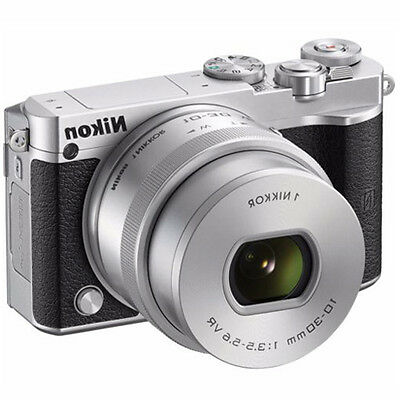 NEW Nikon 1 J5 Mirrorless Digital camera (Silver) +10-30mm VR Lens