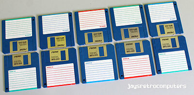 "10x BLANK 3.5"" 720KB FLOPPY DISK DOUBLE SIDED DENSITY DD DSDD FORMATTED + LABELS"