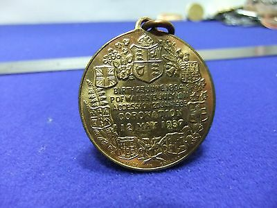 vtg medal edward VIII king and emporor histoy of accession souvenir pendant
