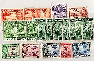 British Commonwealth KGVI Mint Collection of 20 X3835