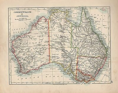 1909 Map ~ Commonwealth Of Australia Victoria New South Wales Victoria ~