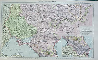 1934 Large Map ~ Russia ~ South & Central ~