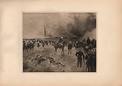 Antique Military Print ~ Occupation Of Coomassie (1873-74) ~ Field Artillery