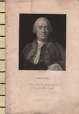 c1830 GEORGIAN PRINT ~ DAVID HUME ~
