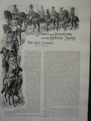1896 Illustrated Article ~ The Life Guards Glories & Traditions Of British Army