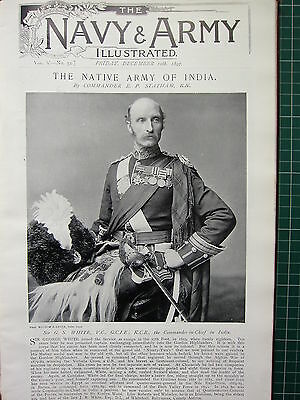1897 Illustrated Article ~ Native Army Of India Sir G. White Commander-In-Chief