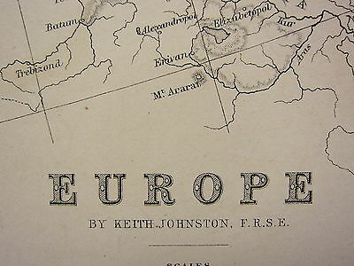 1873 LARGE VICTORIAN MAP ~ EUROPE ~ AUSTRO HUNGARIAN MONARCHY PRUSSIA ITALY etc