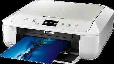 White CANON Pixma MG6851 All in One WIRELESS PRINTER SCANNER COPIER
