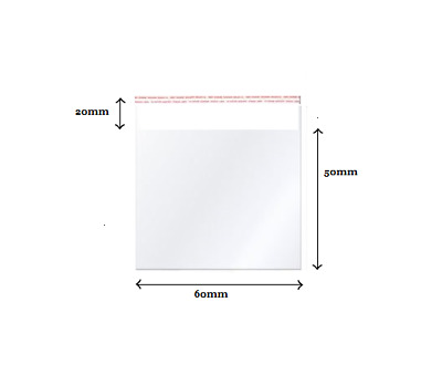 Self Sealable Peel & Seal Clear Plastic Cellophane Retail Bags Various Sizes