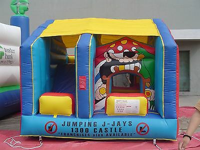 MASSIVE JUMPING CASTLE SALE - 4mx4m Pirate JumpnSlide Combo **Commercial ** NEW