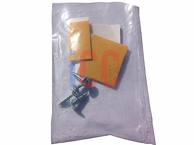 Number plate fixing flat pan head screws sticky pads double sided tape set kit