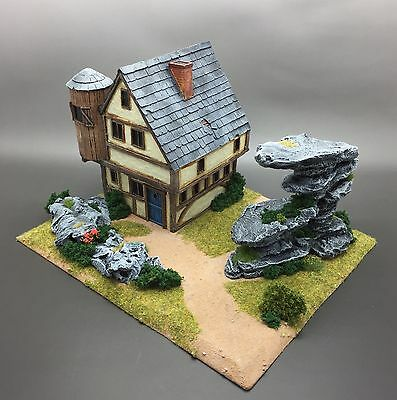 Warhammer Fantasy Age Of Sigmar Kings Of War Scenery Terrain House Chapel Rocks
