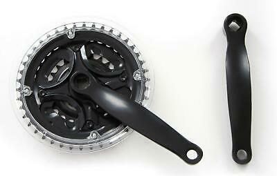 170mm Mountain Bike Triple CHAINSET ( Crank Set ) - in Black 24 34 42T New
