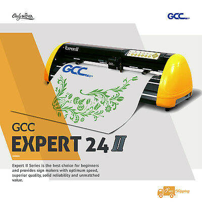 New GCC Expert Ⅱ24 Vinyl Cutter Plotter w/ FREE Software + FREE shipping