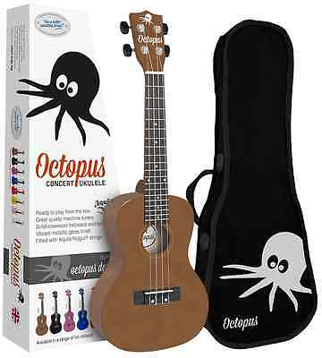 Octopus Concert Ukulele inc Bag - Brown