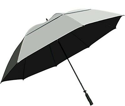 """Umbrella 68"""" Large Uv Protection Wind Comfort Grip Double Canopy Sturdy Golf"""